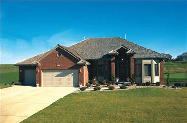 4-Bedroom, 2317 Sq Ft Ranch House Plan - 120-1463 - Front Exterior