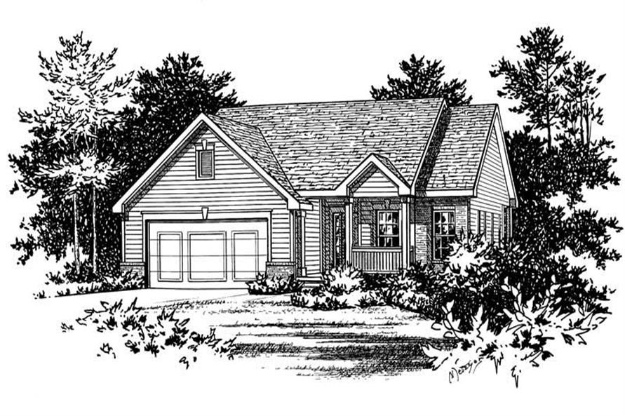 Home Plan Rendering of this 2-Bedroom,1377 Sq Ft Plan -120-1470