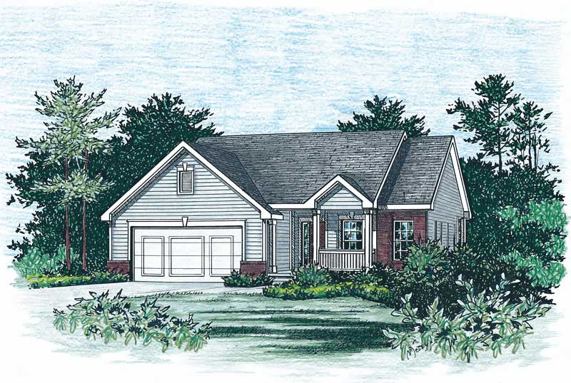 1 Beds 1 Baths 440 Sq Ft Plan 924 7: House Plan #120-1470 : 2 Bedroom, 1377 Sq Ft Small