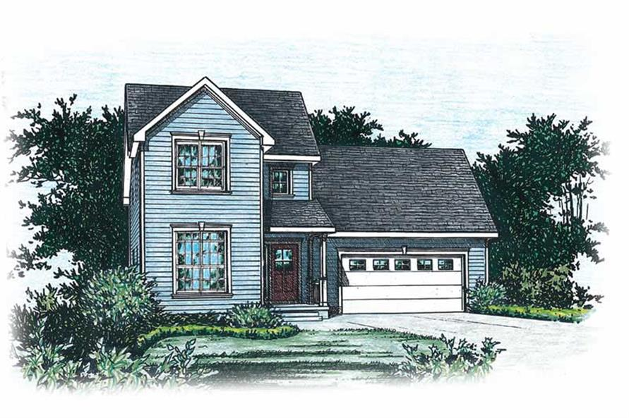 3-Bedroom, 1475 Sq Ft Country House Plan - 120-1471 - Front Exterior
