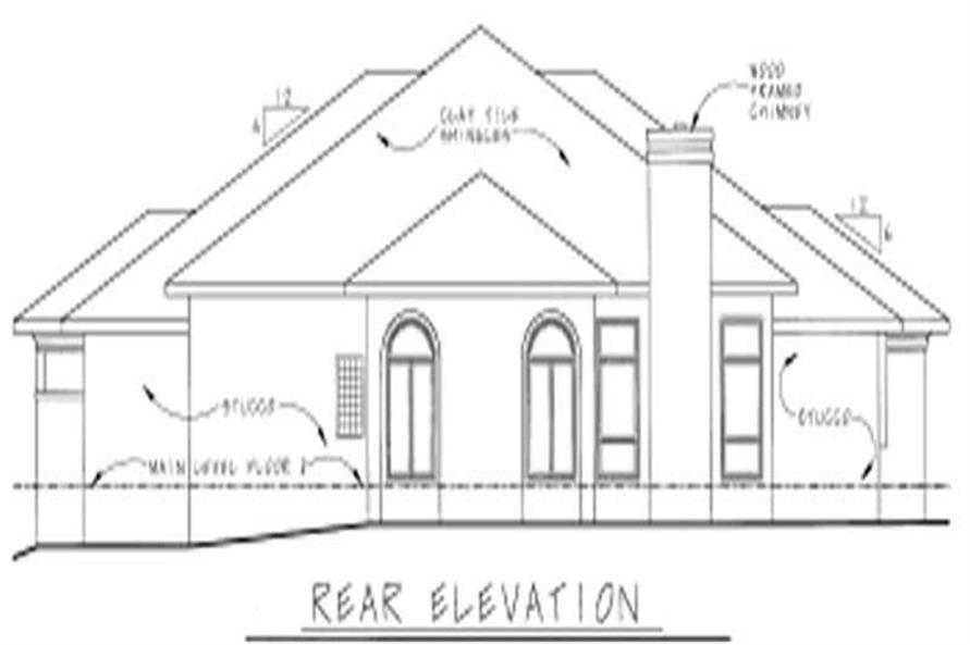 Home Plan Rear Elevation of this 3-Bedroom,2715 Sq Ft Plan -120-1472