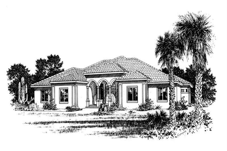 3-Bedroom, 2715 Sq Ft Contemporary Home Plan - 120-1472 - Main Exterior