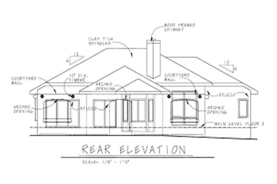 Home Plan Rear Elevation of this 3-Bedroom,1970 Sq Ft Plan -120-1473