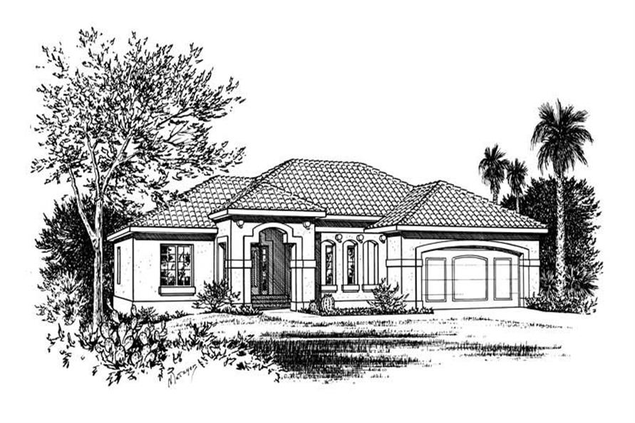 3-Bedroom, 1970 Sq Ft Contemporary Home Plan - 120-1473 - Main Exterior