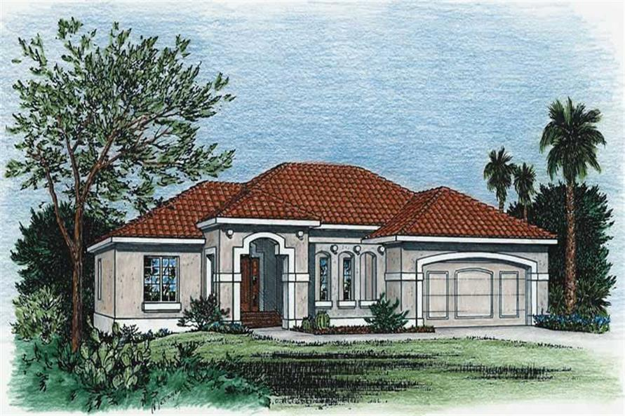 Home Plan Rendering of this 3-Bedroom,1970 Sq Ft Plan -120-1473