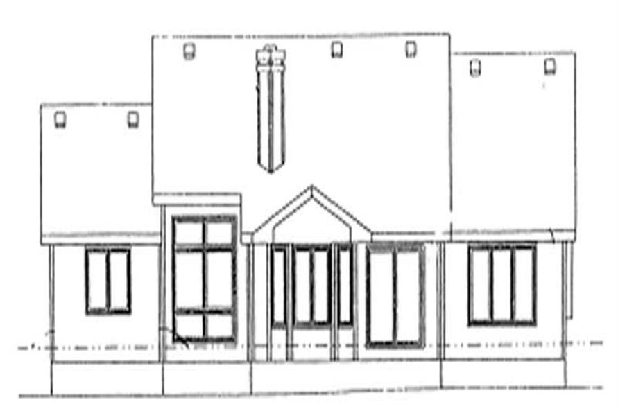 Home Plan Rear Elevation of this 3-Bedroom,1919 Sq Ft Plan -120-1475