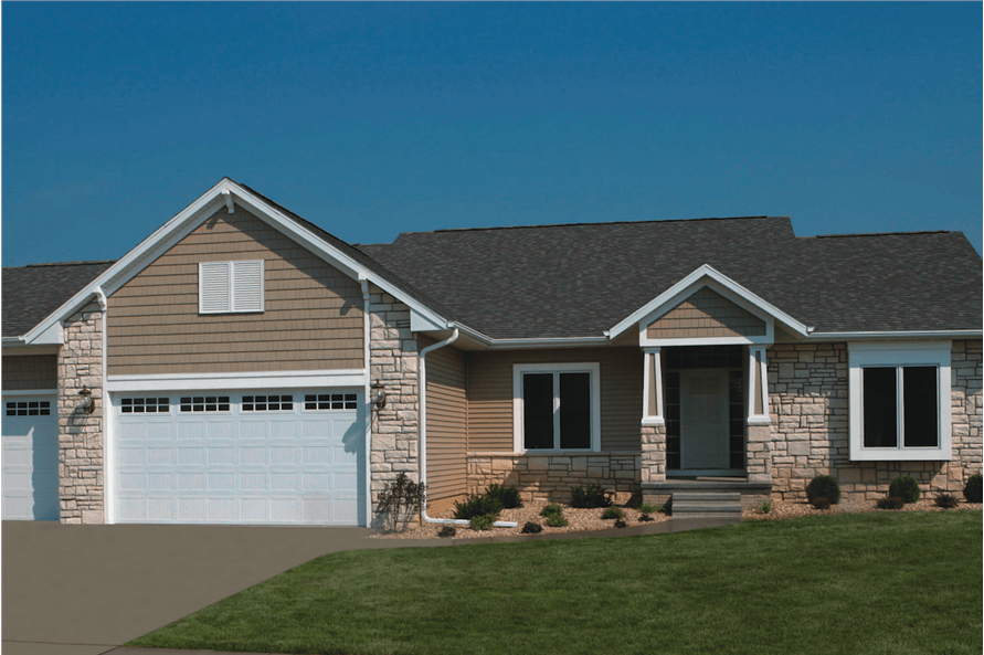 3-Bedroom, 1919 Sq Ft Ranch House Plan - 120-1475 - Front Exterior