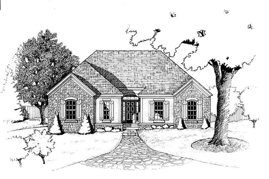 Home Plan Rendering of this 3-Bedroom,1472 Sq Ft Plan -120-1483