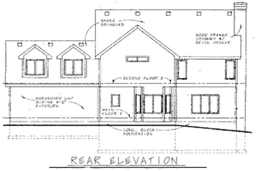 Home Plan Rear Elevation of this 3-Bedroom,2475 Sq Ft Plan -120-1492