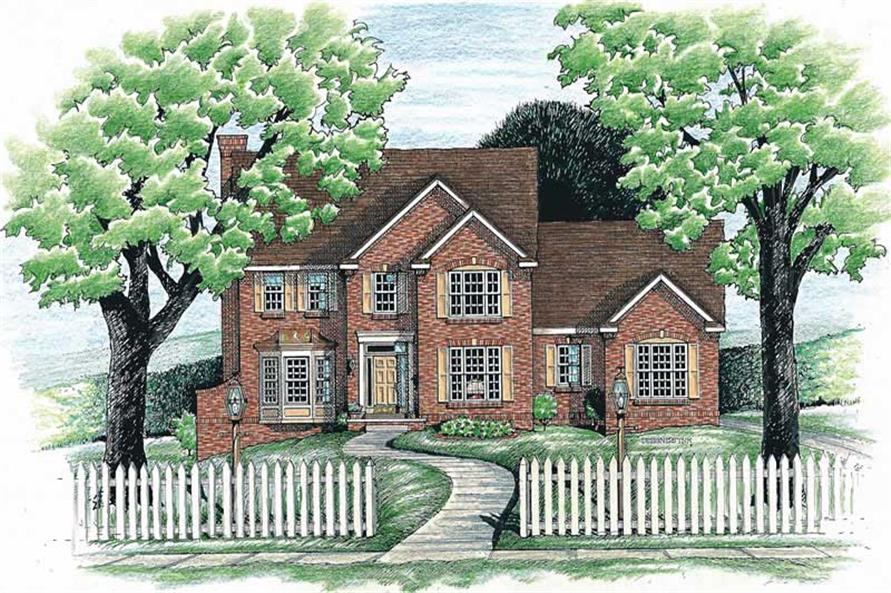 3-Bedroom, 2475 Sq Ft French Home Plan - 120-1492 - Main Exterior