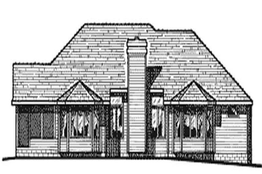Home Plan Rear Elevation of this 3-Bedroom,2053 Sq Ft Plan -120-1495