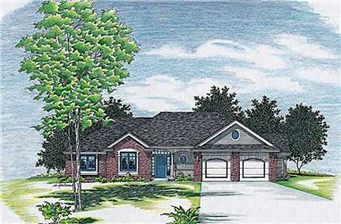 3-Bedroom, 2053 Sq Ft Ranch House Plan - 120-1495 - Front Exterior