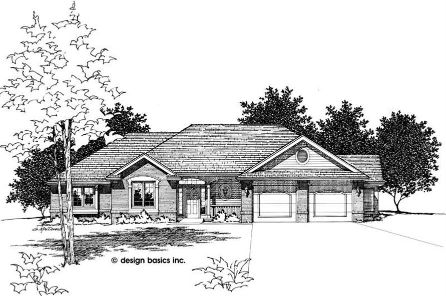 Home Plan Rendering of this 3-Bedroom,2053 Sq Ft Plan -120-1495