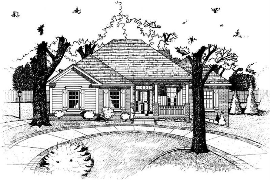 Home Plan Rendering of this 4-Bedroom,1853 Sq Ft Plan -120-1498