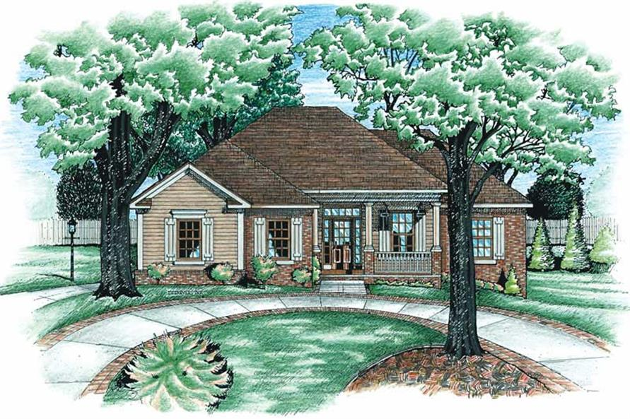 4-Bedroom, 1853 Sq Ft In-Law Suite Home Plan - 120-1498 - Main Exterior