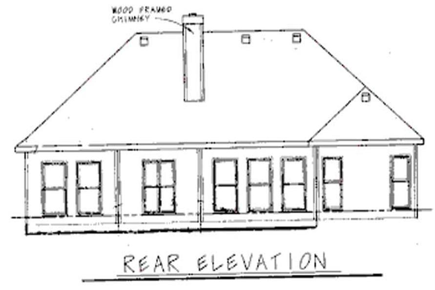 Home Plan Rear Elevation of this 3-Bedroom,1971 Sq Ft Plan -120-1499