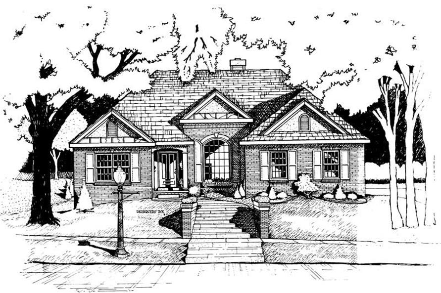Home Plan Rendering of this 3-Bedroom,1971 Sq Ft Plan -120-1499