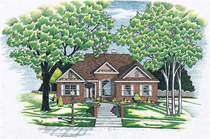 3-Bedroom, 1971 Sq Ft Ranch Home Plan - 120-1499 - Main Exterior
