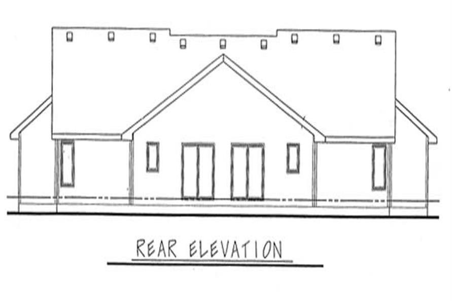 Home Plan Rear Elevation of this 2-Bedroom,1140 Sq Ft Plan -120-1500