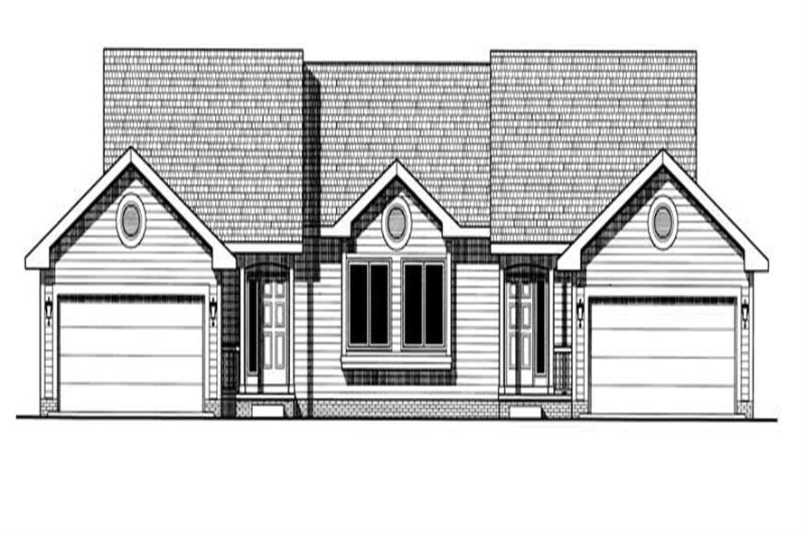 2-Bedroom, 1140 Sq Ft Multi-Unit Home Plan - 120-1500 - Main Exterior