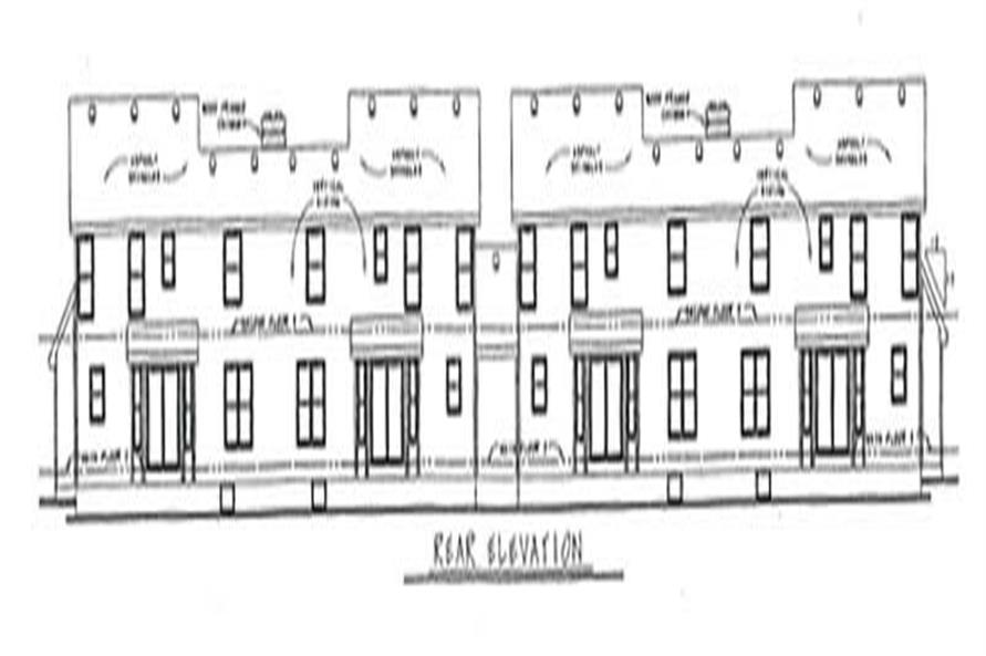 Home Plan Rear Elevation of this 3-Bedroom,1720 Sq Ft Plan -120-1502