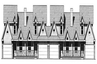 3-Bedroom, 1720 Sq Ft Multi-Unit Home Plan - 120-1502 - Main Exterior