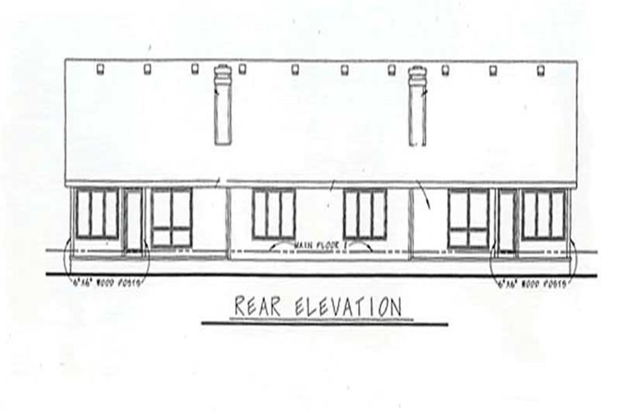 Home Plan Rear Elevation of this 2-Bedroom,1633 Sq Ft Plan -120-1503