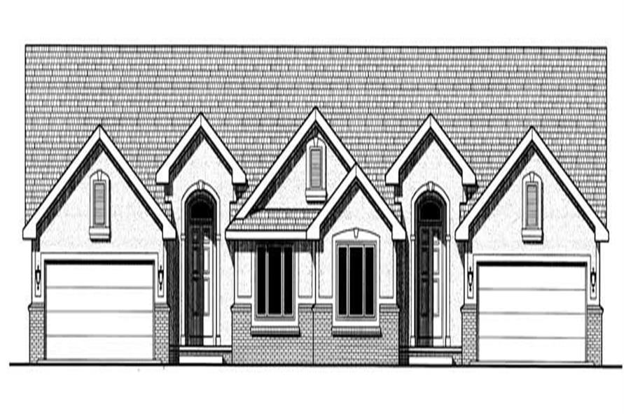 2-Bedroom, 1633 Sq Ft Multi-Unit Home Plan - 120-1503 - Main Exterior