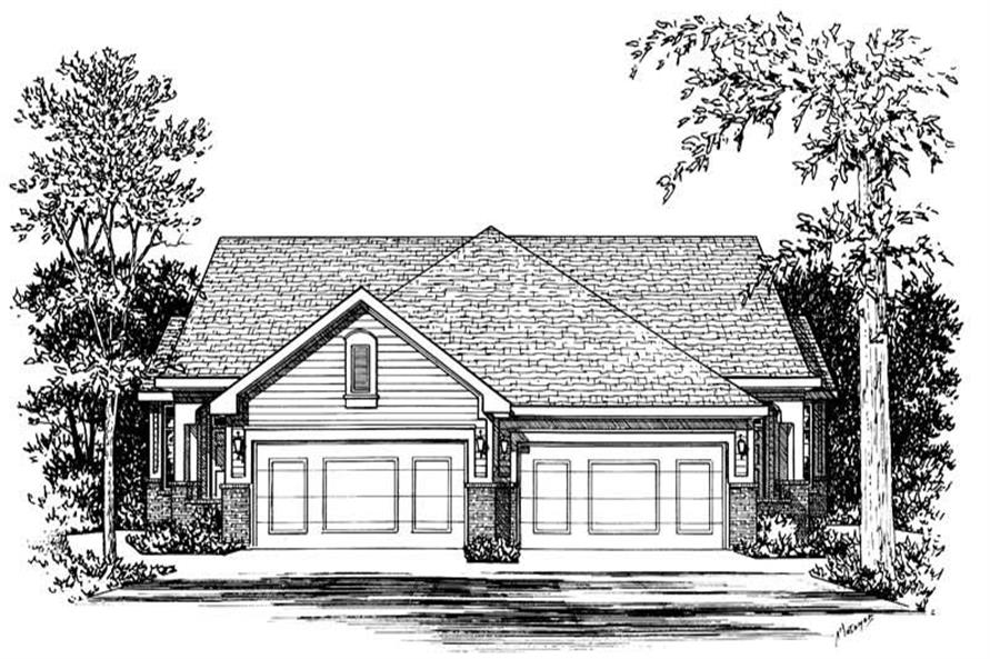 Home Plan Rendering of this 2-Bedroom,1218 Sq Ft Plan -120-1504