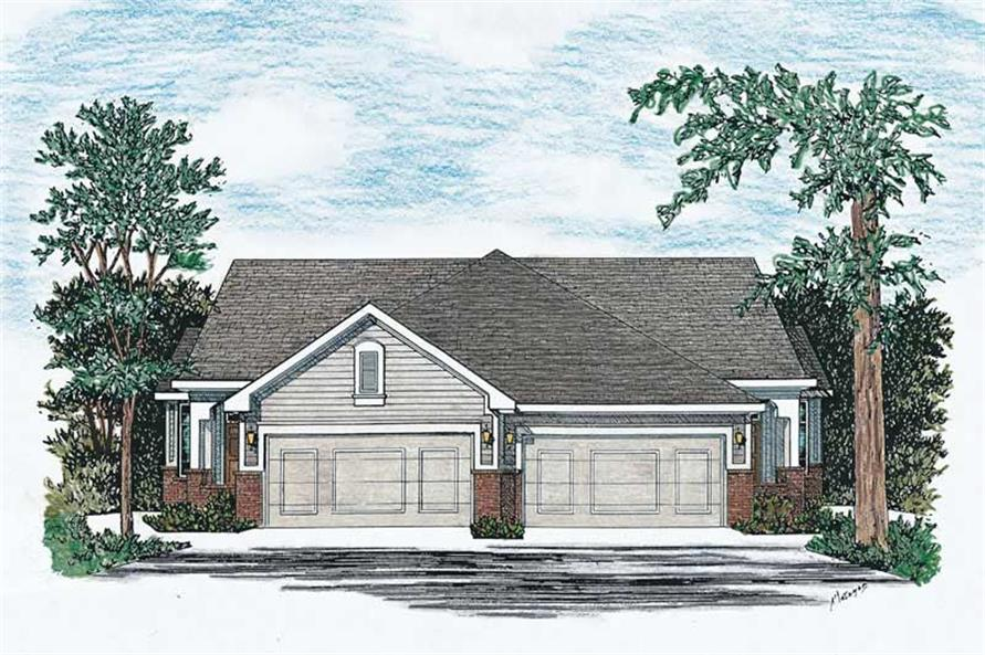 Multi-Unit home plan (ThePlanCollection: House Plan #120-1504)