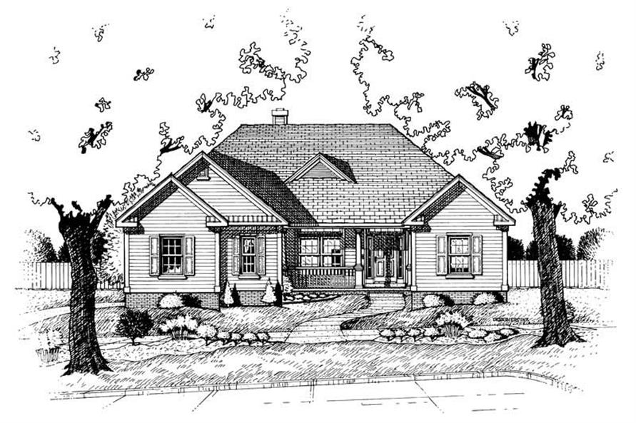 Home Plan Rendering of this 2-Bedroom,1636 Sq Ft Plan -120-1510