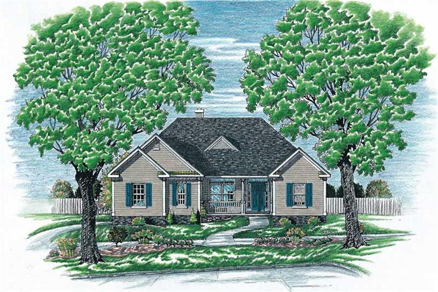 2-Bedroom, 1636 Sq Ft Country Home Plan - 120-1510 - Main Exterior