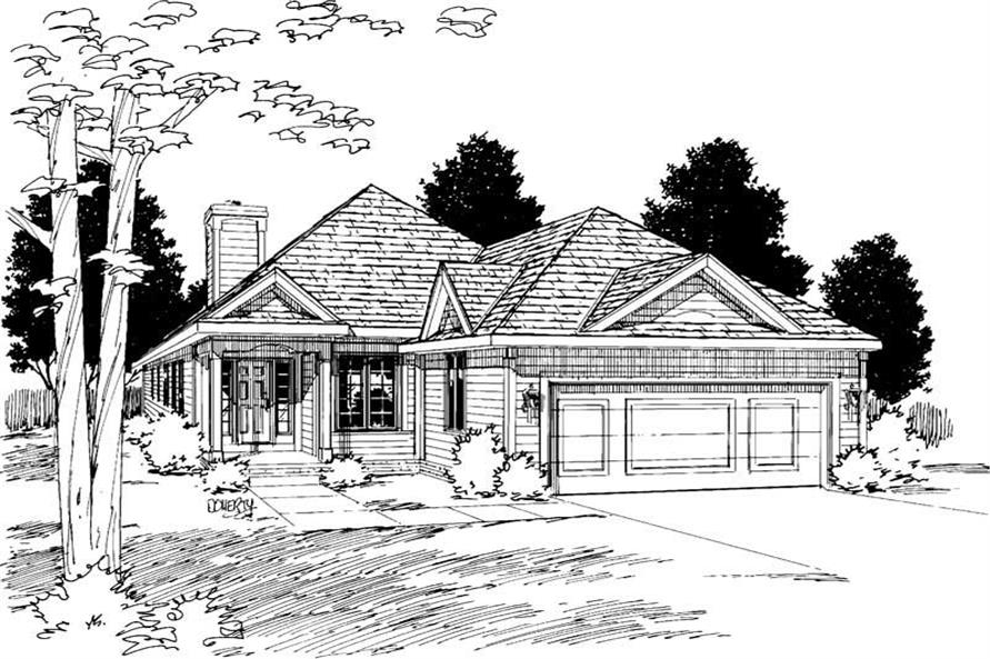 Main image for house plan # 6184