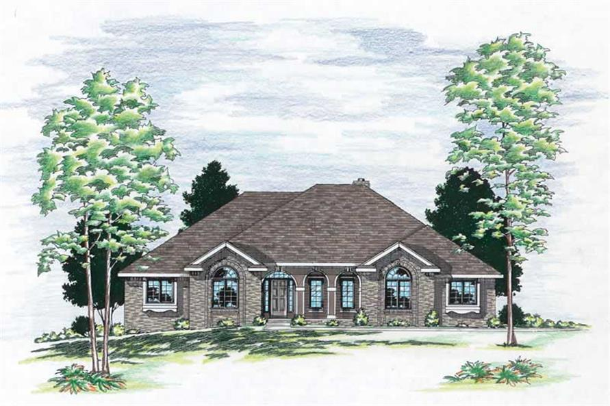 3-Bedroom, 2187 Sq Ft European House Plan - 120-1514 - Front Exterior