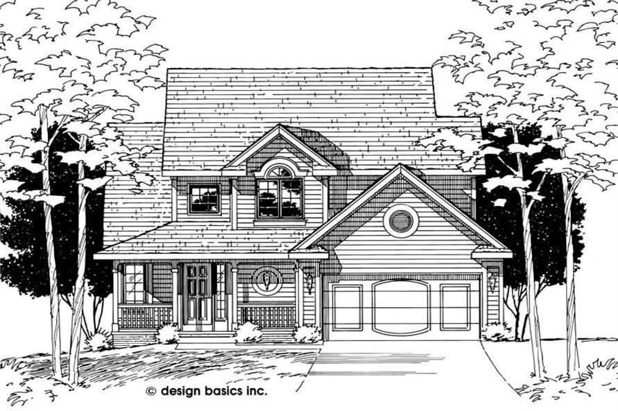 Home Plan Rendering of this 3-Bedroom,1651 Sq Ft Plan -120-1516