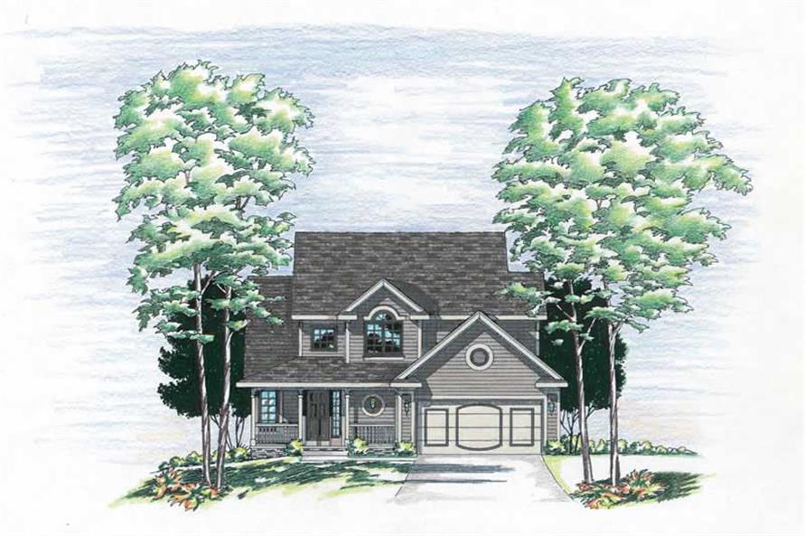 3-Bedroom, 1651 Sq Ft Small House Plans - 120-1516 - Front Exterior