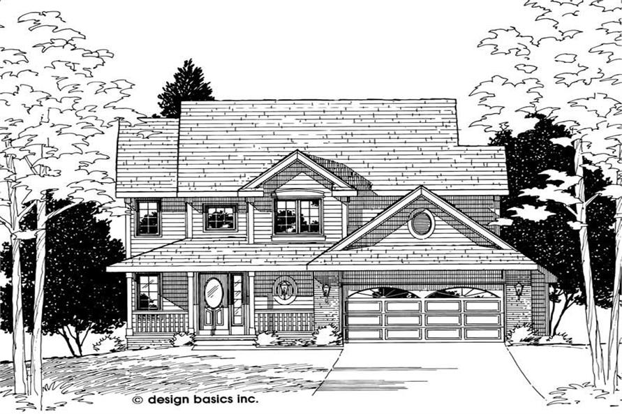 Home Plan Rendering of this 4-Bedroom,1771 Sq Ft Plan -120-1517