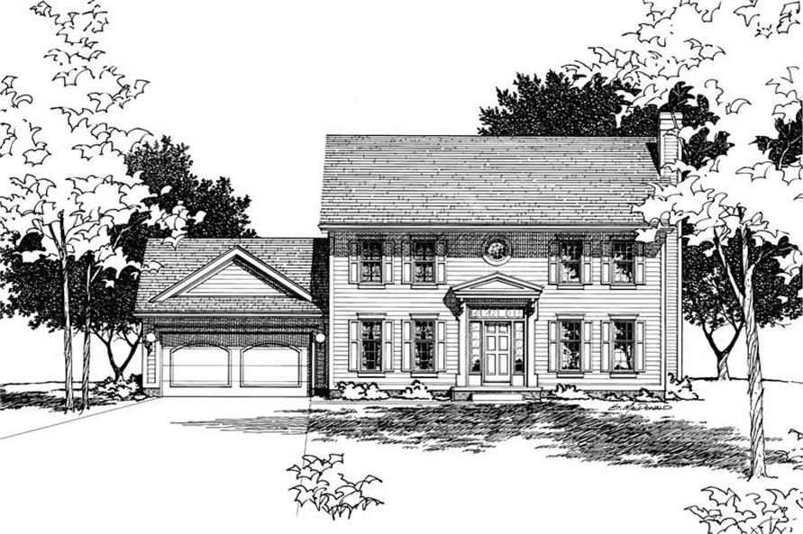 Home Plan Rendering of this 4-Bedroom,1933 Sq Ft Plan -120-1518
