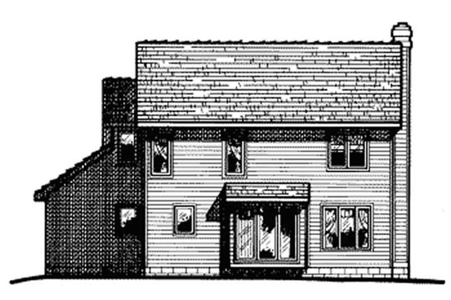 Home Plan Rear Elevation of this 2-Bedroom,1621 Sq Ft Plan -120-1520