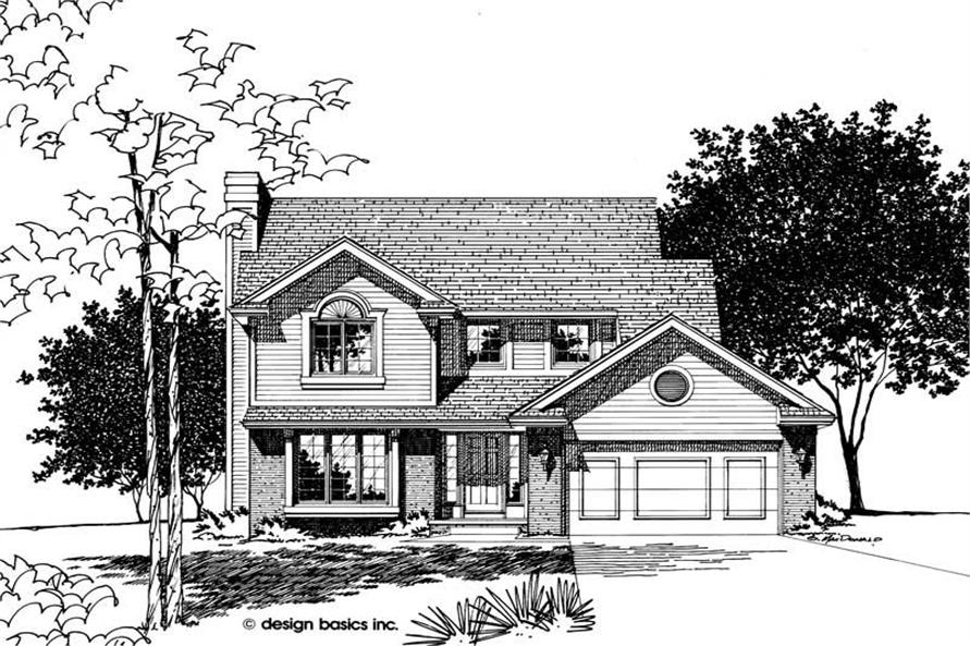 Home Plan Rendering of this 2-Bedroom,1621 Sq Ft Plan -120-1520