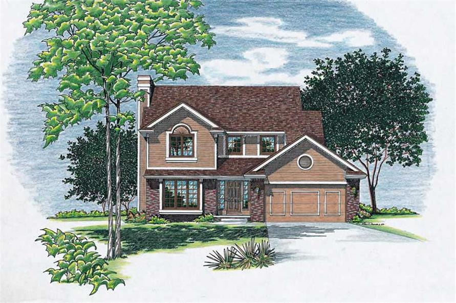 2-Bedroom, 1621 Sq Ft Small House Plans - 120-1520 - Front Exterior