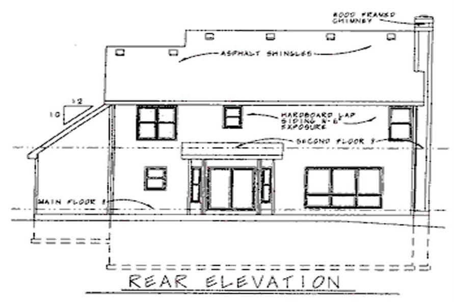 Home Plan Rear Elevation of this 4-Bedroom,2349 Sq Ft Plan -120-1530