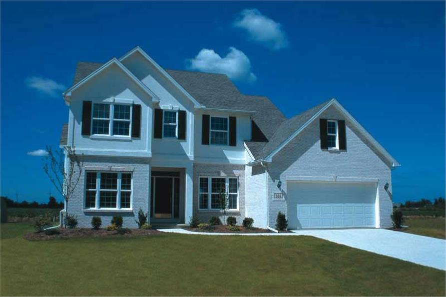Exterior Photo of this 4-Bedroom,2349 Sq Ft Plan -2349