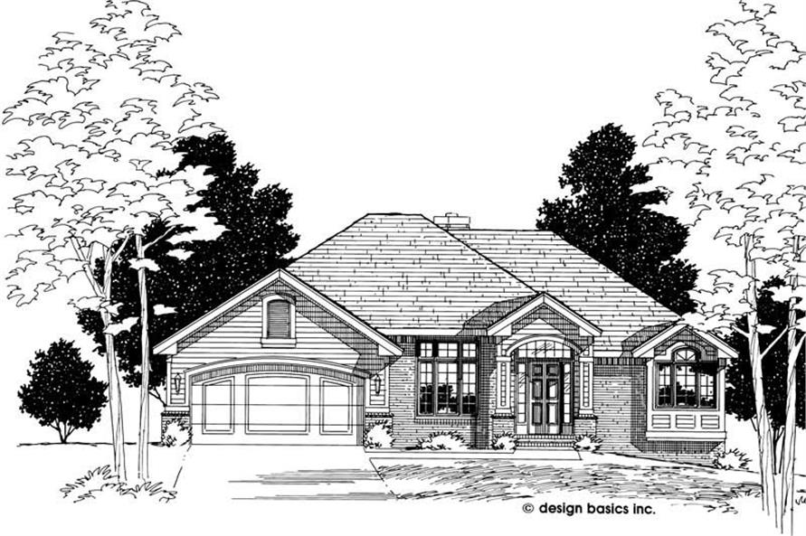 3-Bedroom, 1595 Sq Ft Small House Plans - 120-1531 - Front Exterior