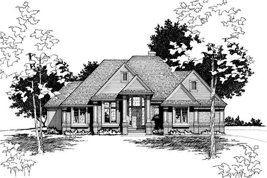 Home Plan Rendering of this 3-Bedroom,2186 Sq Ft Plan -120-1532
