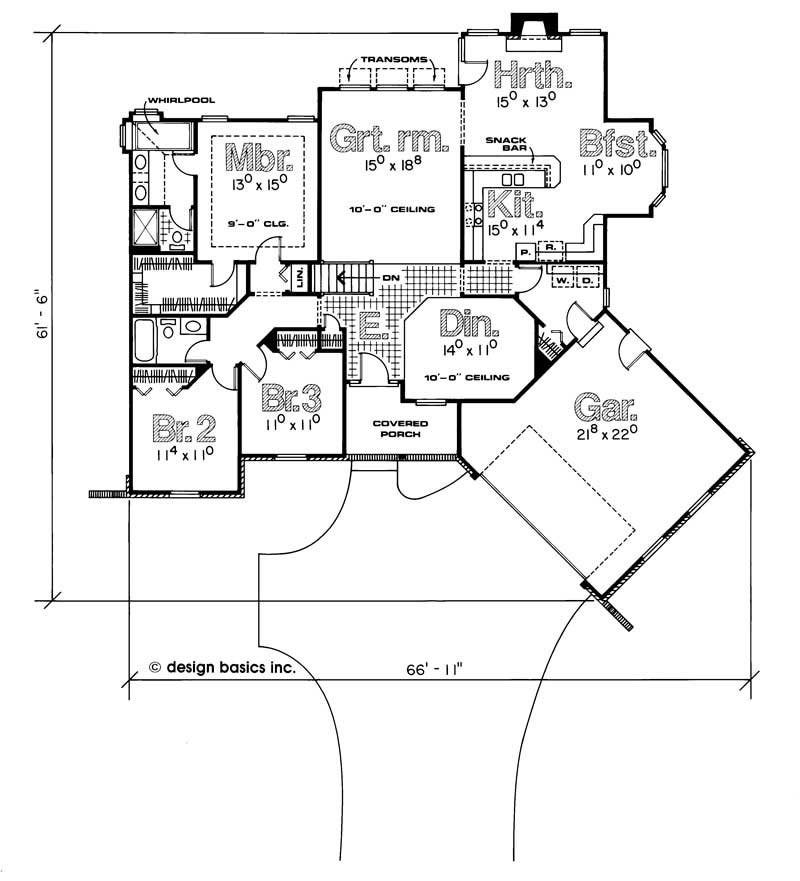 House plan 120 1536 3 bedroom 1960 sq ft ranch for 1960 ranch house floor plans