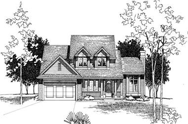 4-Bedroom, 2055 Sq Ft Country House Plan - 120-1541 - Front Exterior