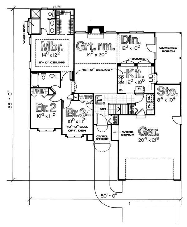 120-1544 house plan main level