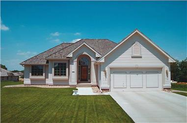 3-Bedroom, 1422 Sq Ft Ranch Home Plan - 120-1544 - Main Exterior