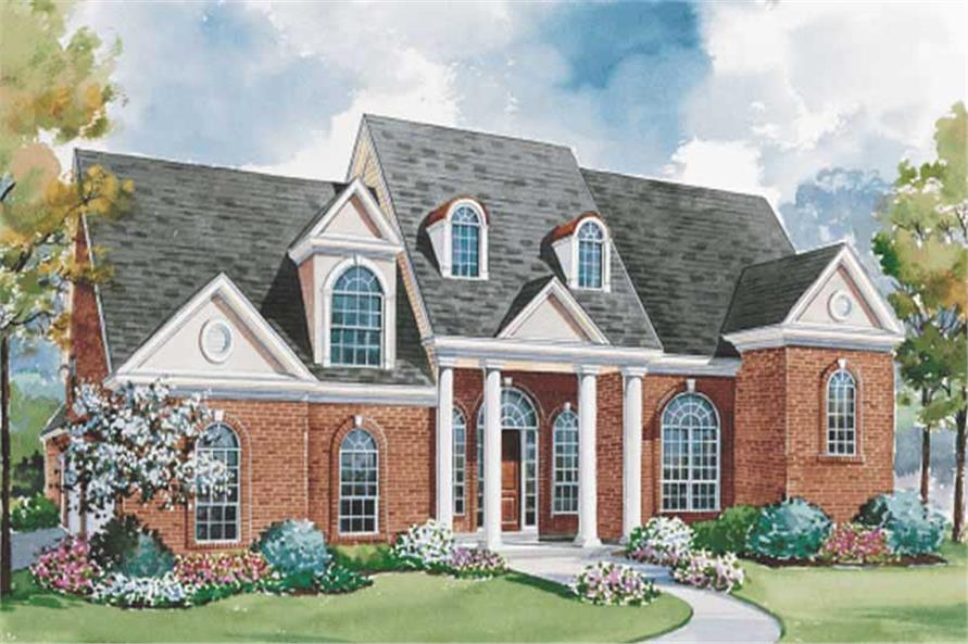 European Home Plans color elevation.